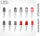 led icons | Shutterstock .eps vector #373363408