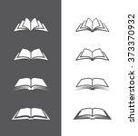 set of open book icons ... | Shutterstock .eps vector #373370932