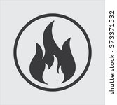 fire icon | Shutterstock .eps vector #373371532