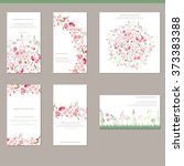 floral spring templates with... | Shutterstock .eps vector #373383388