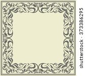 frame with vintage pattern... | Shutterstock .eps vector #373386295
