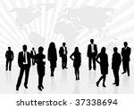 illustration of business men... | Shutterstock .eps vector #37338694