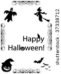 spooky illustration with... | Shutterstock .eps vector #37338712