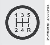 gear shifter icon | Shutterstock .eps vector #373393486