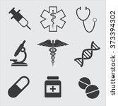 medicine icons set | Shutterstock .eps vector #373394302