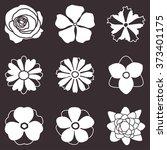 flower icons set. flower... | Shutterstock .eps vector #373401175