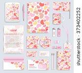 set of vector corporate... | Shutterstock .eps vector #373402252