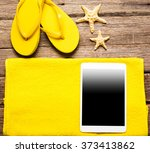 summer women's accessories ... | Shutterstock . vector #373413862