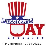presidents day in usa.... | Shutterstock . vector #373414216