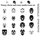 funny and scary masks simple...