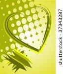 abstract green heart   vector | Shutterstock .eps vector #37343287
