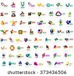 mega set of geometrical... | Shutterstock .eps vector #373436506