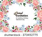 romantic invitation. wedding ... | Shutterstock . vector #373452775