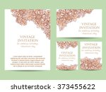 abstract flower background with ... | Shutterstock . vector #373455622