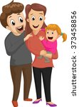 new family with girl. happy... | Shutterstock . vector #373458856
