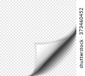 page curl with shadow on blank... | Shutterstock .eps vector #373460452