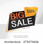 super sale and special offer.... | Shutterstock .eps vector #373474606