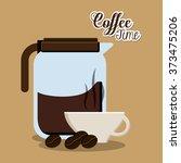 coffee shop design  | Shutterstock .eps vector #373475206