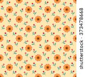 seamless pattern of beautiful... | Shutterstock .eps vector #373478668