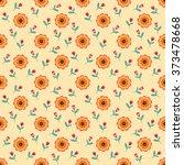 seamless pattern of beautiful... | Shutterstock .eps vector #373478668
