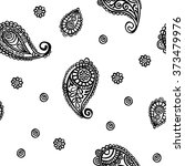 paisley. paisley pattern.... | Shutterstock .eps vector #373479976
