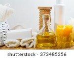 spa   aromatic sea salt and... | Shutterstock . vector #373485256