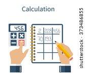 calculation concept.... | Shutterstock .eps vector #373486855