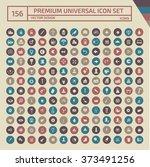 156 premium universal web icon... | Shutterstock .eps vector #373491256