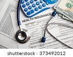 health insurance application... | Shutterstock . vector #373492012