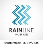 rain water fall of line... | Shutterstock .eps vector #373492435