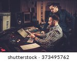sound engineer and producer... | Shutterstock . vector #373495762