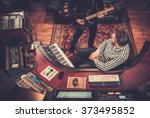 sound engineer and producer... | Shutterstock . vector #373495852