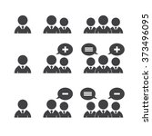 business man icons on white... | Shutterstock .eps vector #373496095