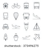 transportation icon design  | Shutterstock .eps vector #373496275