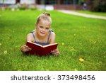 portrait of beautiful happy... | Shutterstock . vector #373498456