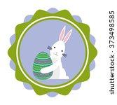 happy easter design  | Shutterstock .eps vector #373498585