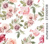 seamless pattern with orchid... | Shutterstock . vector #373500538