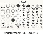 set of elements for logo... | Shutterstock .eps vector #373500712