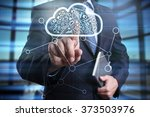 businessman using modern... | Shutterstock . vector #373503976