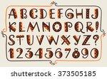tribal ethnic bright vector... | Shutterstock .eps vector #373505185