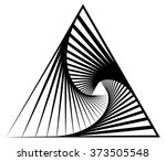 abstract shape with vortex ...   Shutterstock .eps vector #373505548