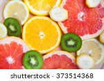 citrus fruit background with a...   Shutterstock . vector #373514368