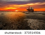offshore oil and rig platform... | Shutterstock . vector #373514506