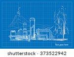 geothermal power station....   Shutterstock .eps vector #373522942