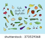 colored fruits and vegetables... | Shutterstock .eps vector #373529368