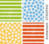 set of seamless patterns | Shutterstock .eps vector #373529542