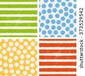 set of seamless patterns | Shutterstock .eps vector #373529542