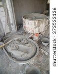 old cement concrete mixer at... | Shutterstock . vector #373533136