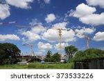 industrial construction crane... | Shutterstock . vector #373533226
