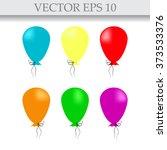 illustration of air balloons  | Shutterstock .eps vector #373533376